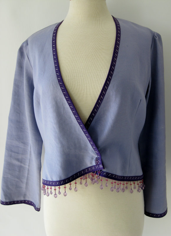 Purple Jacket with Beaded Fringe