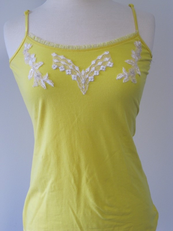 Tank Top - Yellow & White