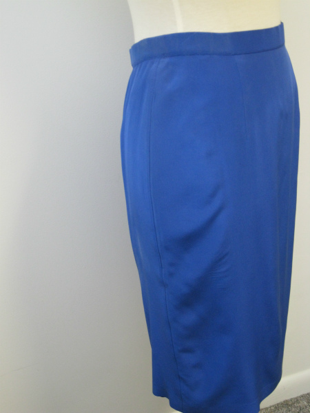 100% Blue Silk Skirt