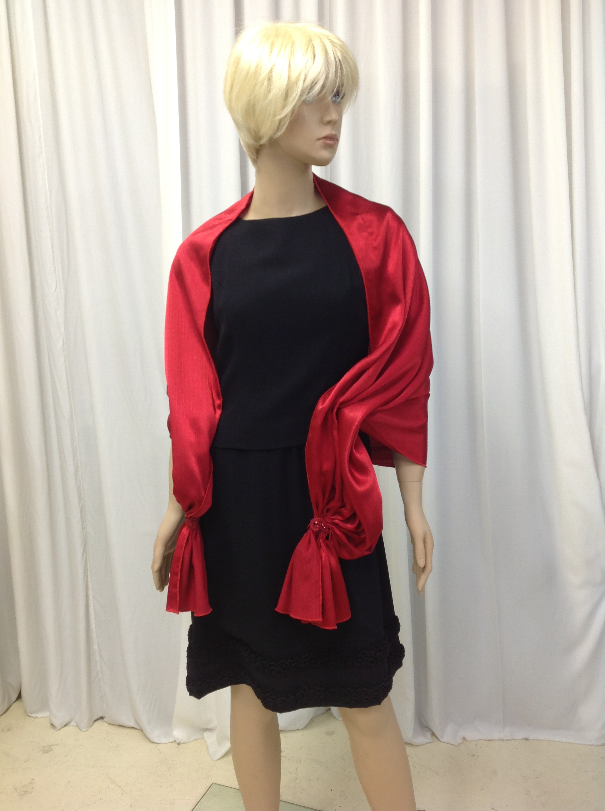 Red Evening Drape