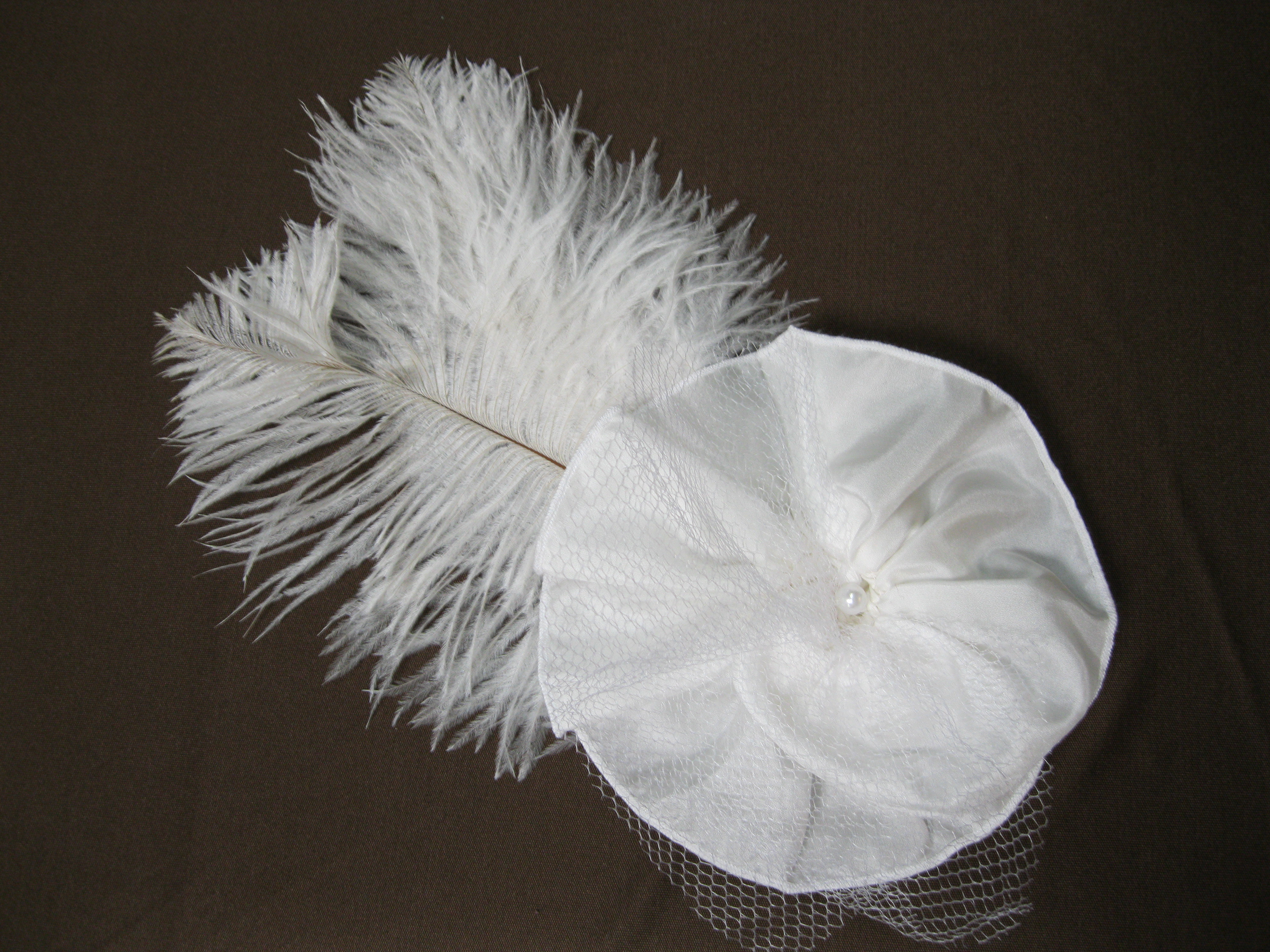 Feathered Bridal Fascinator