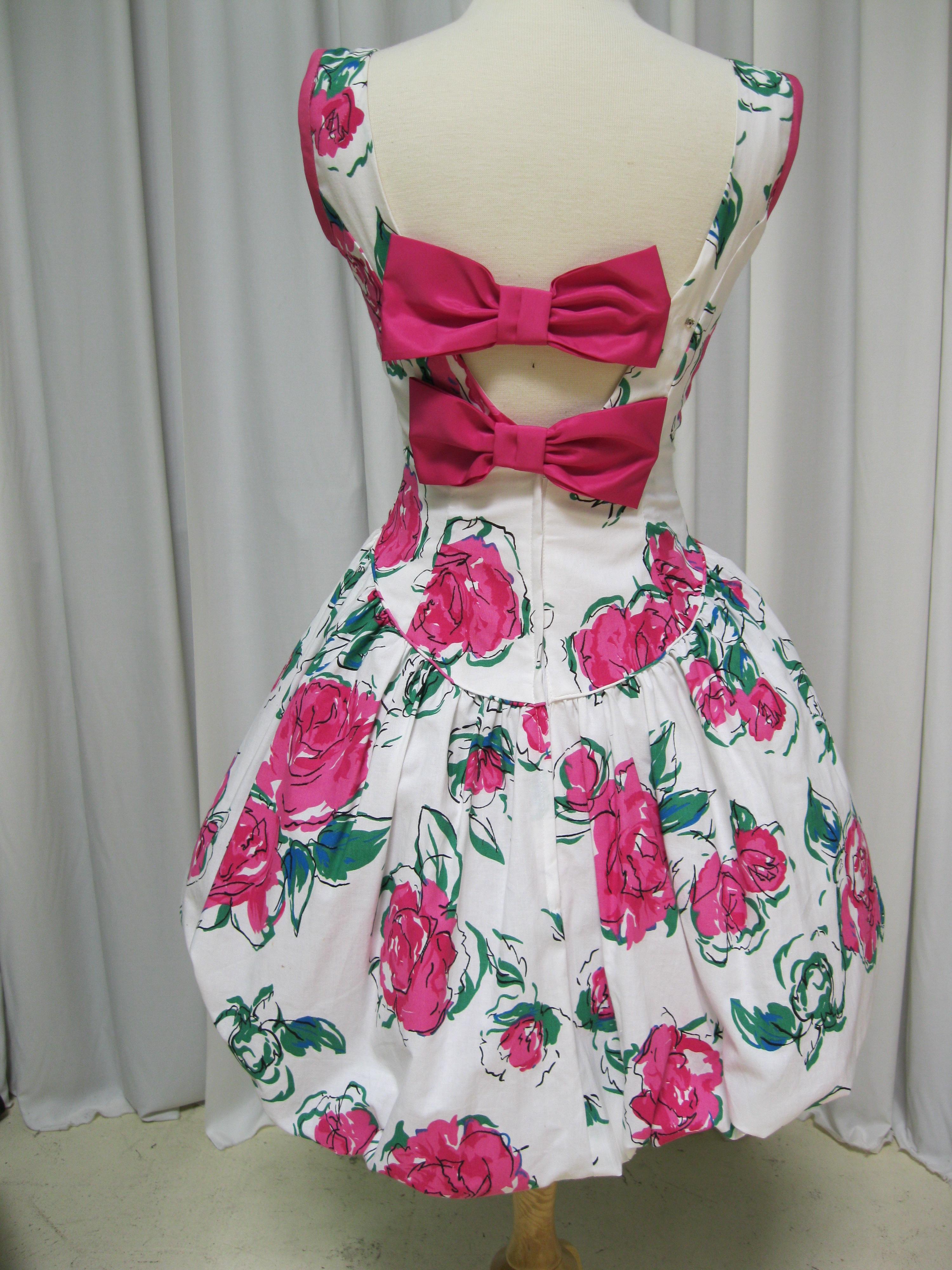 Flirty Flower Print Bubble Dress