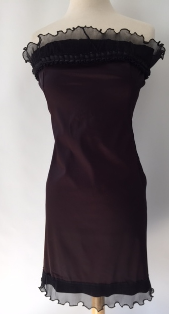 Black Satin Cocktail Dress