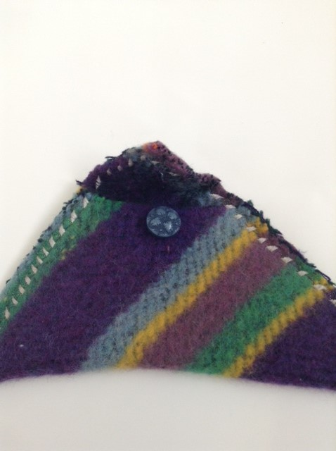 Hand Felted Rainbow Clutch