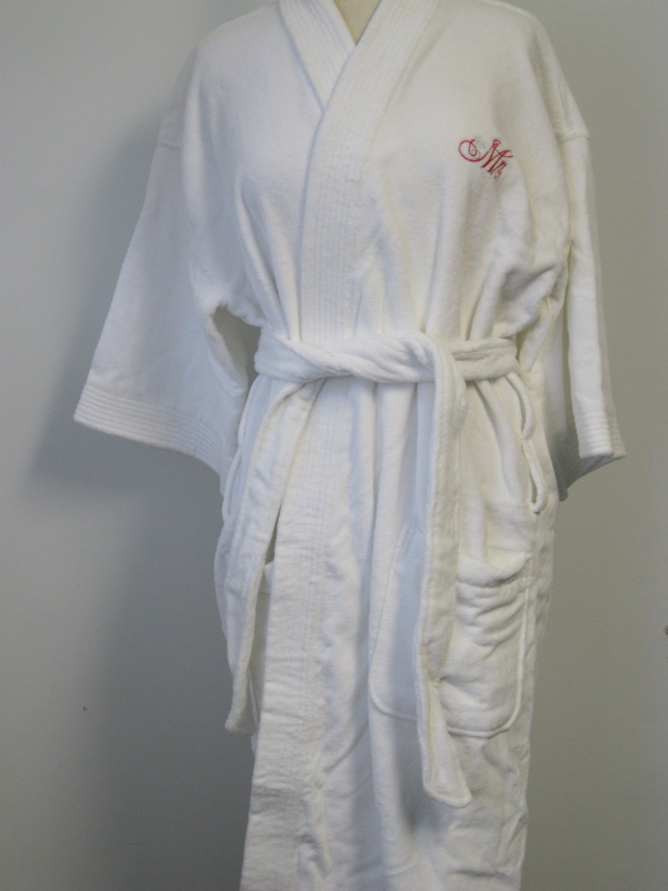 """Mrs"" White Bath Robe"