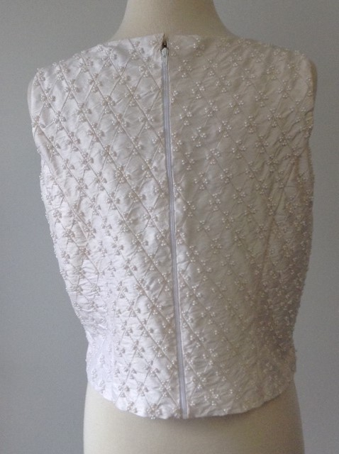 Hand Stitched Pearl Blouse