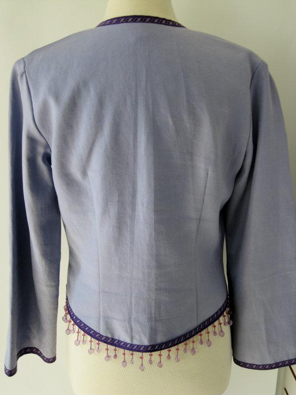 Purple Jacket with Beaded Fringe