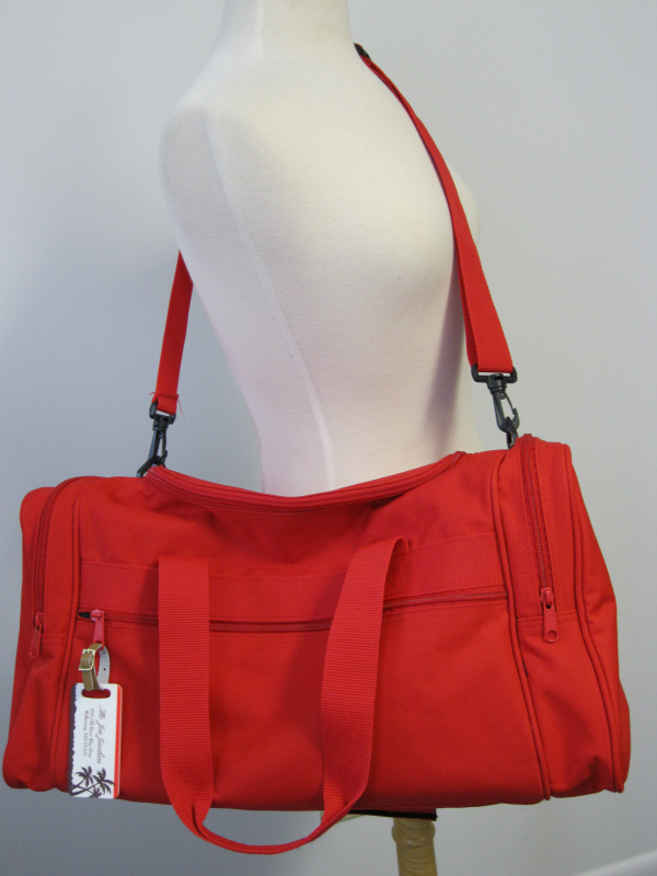 "Red ""Just Married"" Duffel"