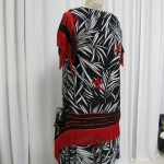 Red/Black/White Sequin and Fringe Flapper Dress