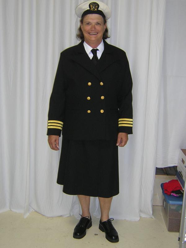 WWII Navy Nurse Reenactor