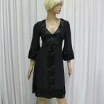 Black Silk 60's dress