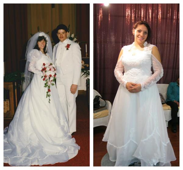 Re-design of client's mother's wedding dress