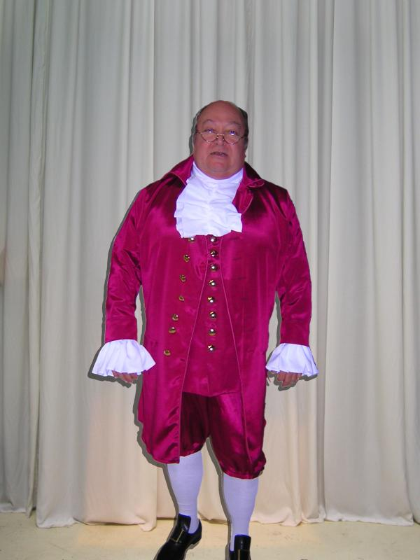 Benjamin Franklin Reenactor