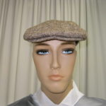 Brown Tweed Newsboy Cap